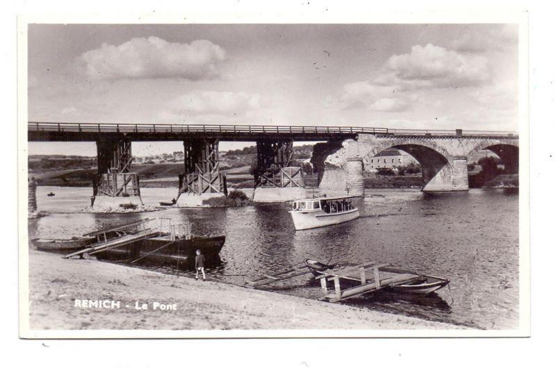 L 5500 REMICH, Moselbrücke, noch nicht komplett repariert, 1953