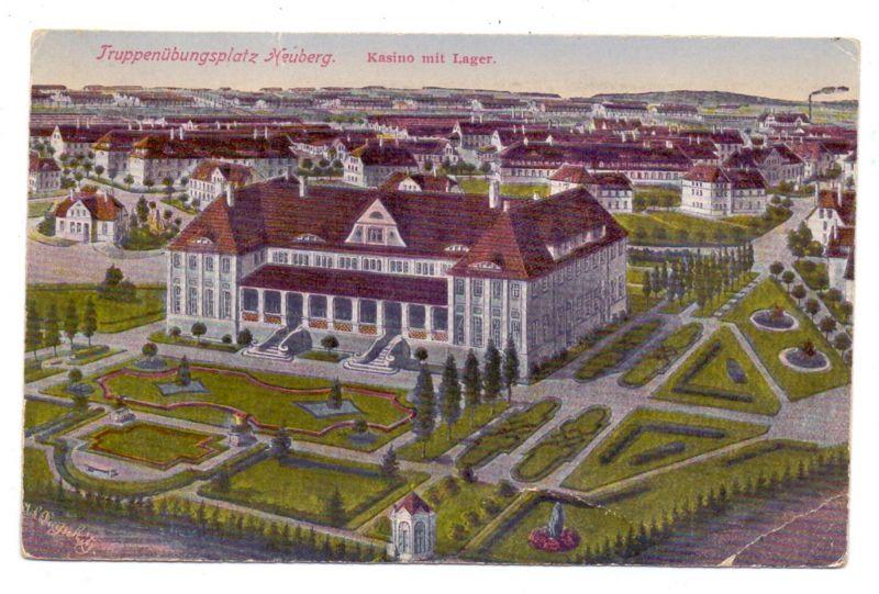 MILITÄR - Truppenübungsplatz Heuberg, Kasino, 1922, Druckstelle