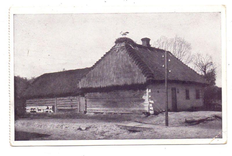 BELARUS / WEISSRUSSLAND - BREST-LITOWSK, Storchenidyll, 1918, deutsche Feldpost - Dragonner, kl. Eckknick