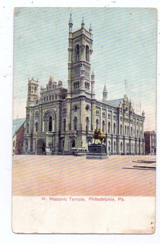 USA - PENNSYLVANIA - PHILADELPHIA, Masonic Temple, Freimaurer, Franc Macon, 1907