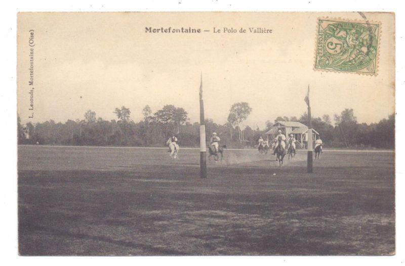 REITSPORT - POLO, Mortefontaine, 1907,
