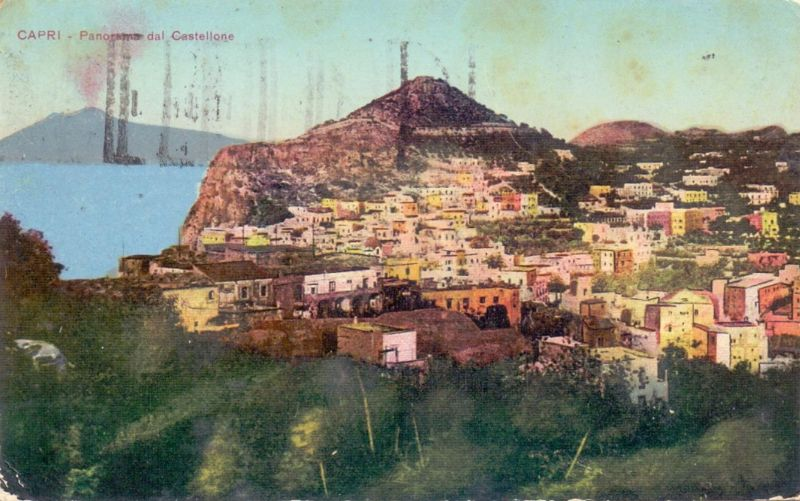 I 80073 CAPRI, Panorama dela Castellone, 1925