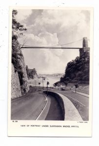 UK - ENGLAND - BRISTOL - BRISTOL City, Portway under Suspension Bridge