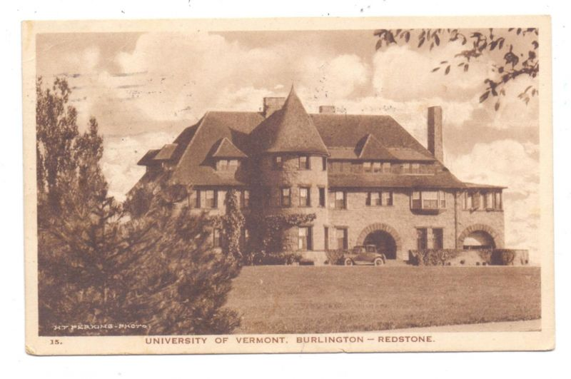 USA - VERMONT - BURLINGTON, University, Redstone, 1926