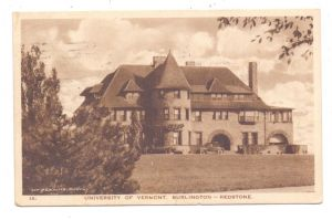 USA - VERMONT - BURLINGTON, University, Redstone, 1926