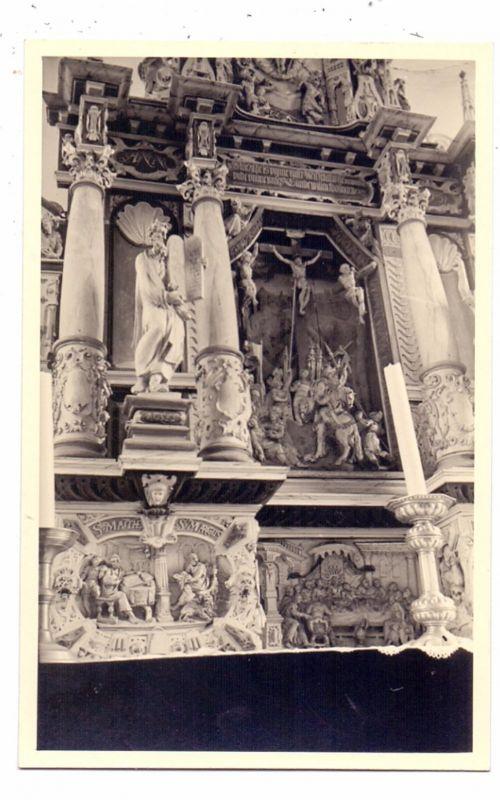 2893 BUTJADINGEN - TOSSENS, Norddeutscher Barock-Altar von Ludwig Müsntermann, Photo-AK 0