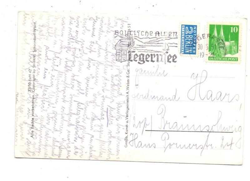 8180 TEGERNSEE, Luftaufnahme, 1951 1