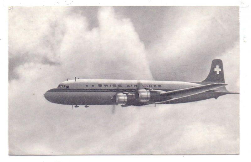 FLUGZEUGE - SWISSAIR, DC 6 B, 1953