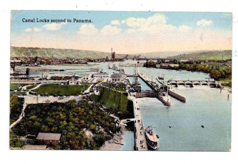 PANAMA - Canal Locks second to Panama, 1919