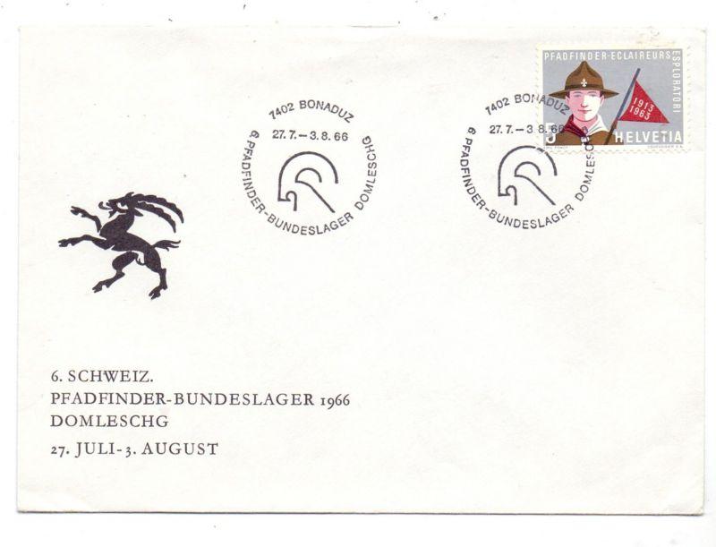 PFADFINDER / SCOUTS, Sonderumschlag und Stempel, Schweiz 1966
