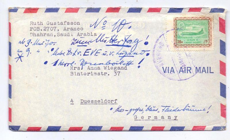 SAUDI - ARABIEN - 1970, Michel 260, 20 Pia Luftpost, Brief nach Deutschland mit Inhalt