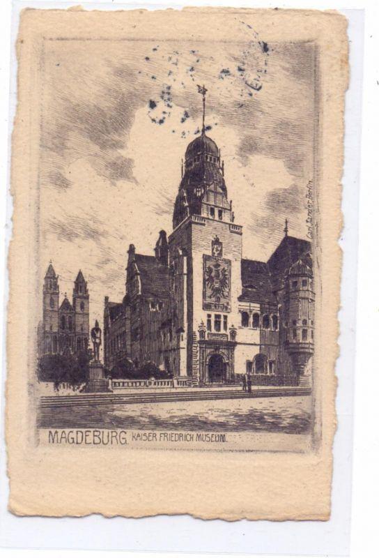 0-3000 MAGDEBURG, Kaiser Friedrich Museum, Künstler-Karte Carl Jander - Berlin