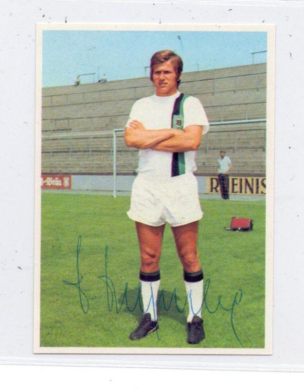 SPORT - FUSSBALL- BORUSSIA MÖNCHENGLADBACH - JUPP HEYNCKES, Sammelbild 1972, Autogramm
