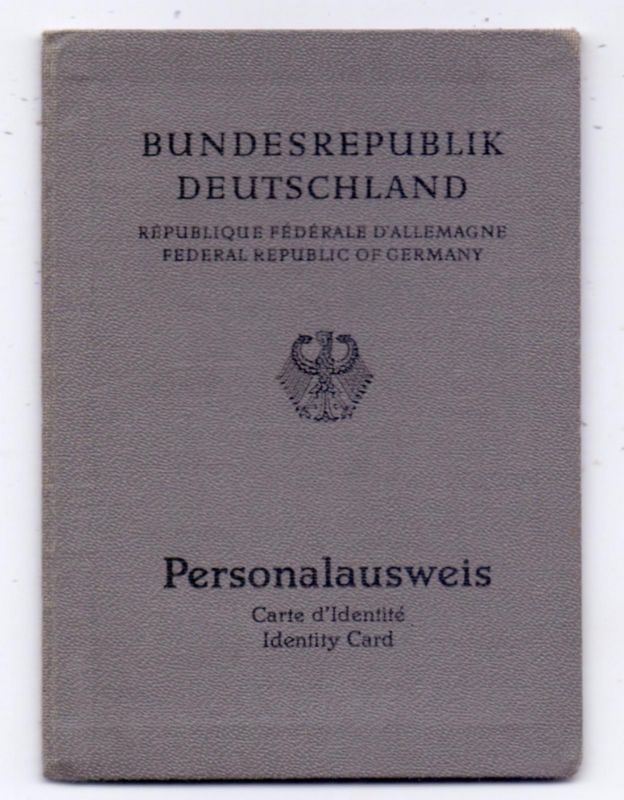 AUSWEISE - PERSONALAUSWEIS DEUTSCHLAND, 1981, komplett