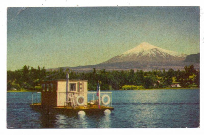 CHILE - Lago Villarica / Volcan / Vulcan, 1957