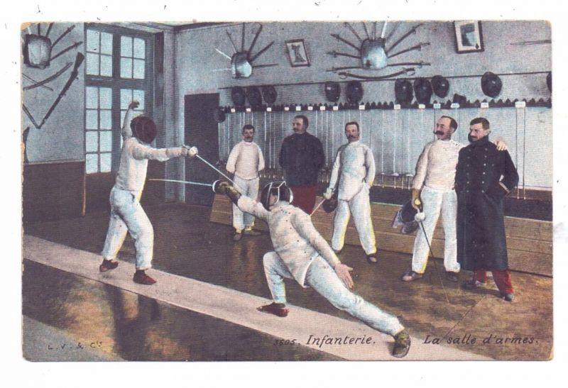 SPORT - FECHTEN / Fencing / Combat - franz. Militär