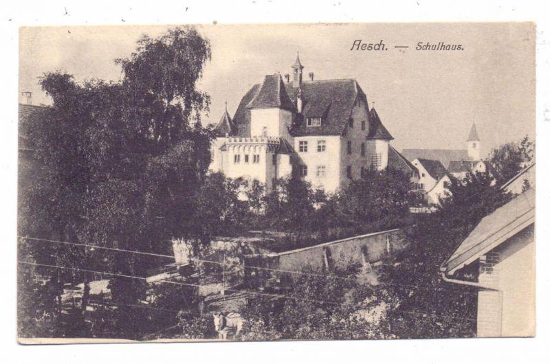 CH 4147 AESCH BL, Schulhaus, 1913