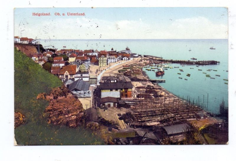 2192 HELGOLAND,Ober- und Unterland, 1914 0
