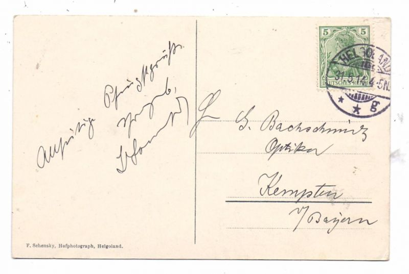 2192 HELGOLAND,Ober- und Unterland, 1914 1