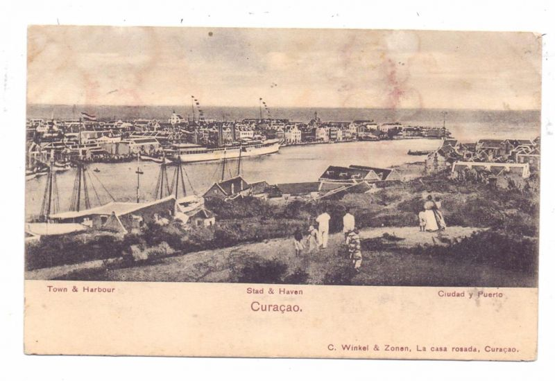 CURACAO - Stad & Haven, 1913