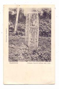 GUATEMALA - Columna funeral indiana muy  vieja, 1904