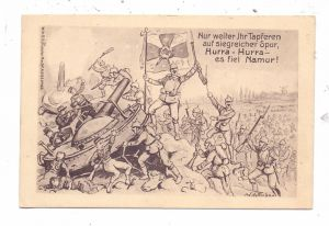 B 5000 NAMUR, 1.Weltkrieg Patriotica, Fall von Namur