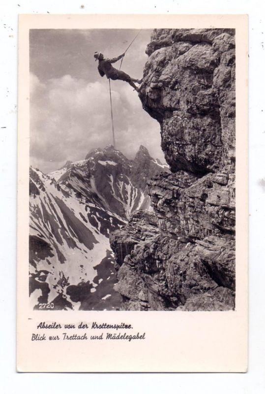 BERGSTEIGEN - Abseilen von der Krottenspitze / Oberstdorf