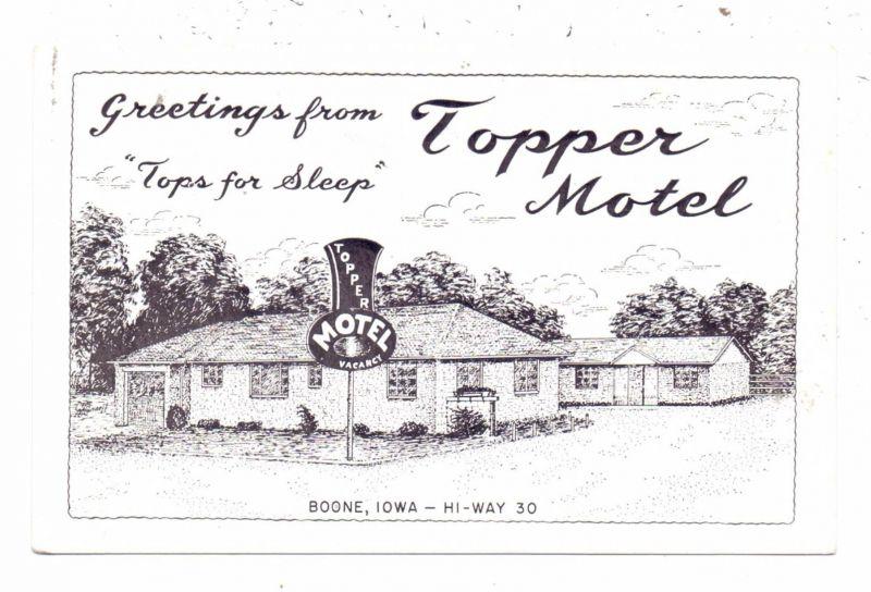 USA - IOWA - BOONE, Topper Motel, 1954