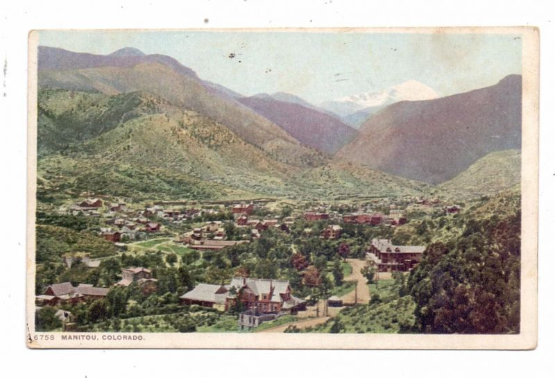 USA - COLORADO - MANITOU SPRINGS, town view