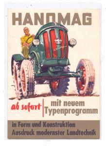 LANDWIRTSCHAFT - Werbe-Karte HANOMAG Traktoren