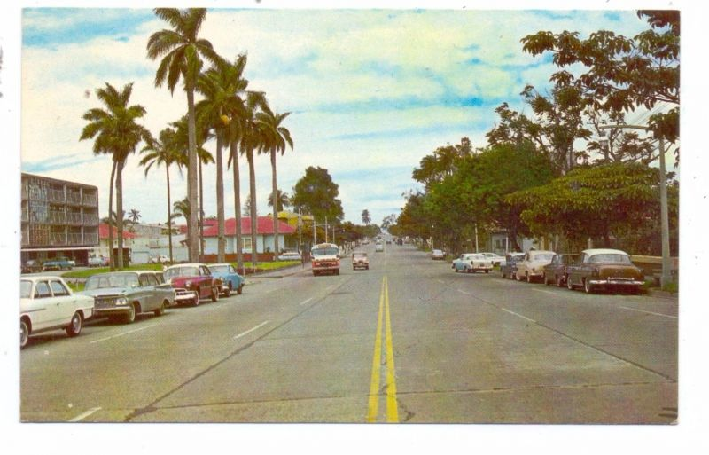 PUERTO RICO - SAN JOSE, Paseo Colon,.US-Car Oldtimer