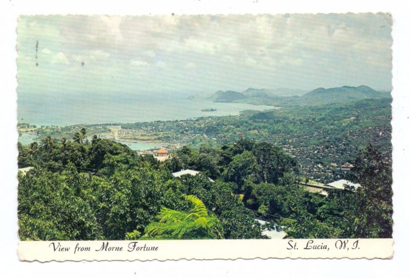 ST. LUCIA - CASTRIES, View from Morne Fortune