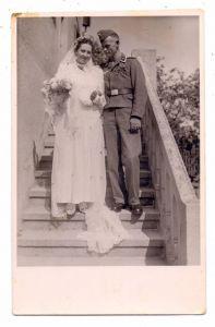 MILITÄR - UNIFORM - WEHRMACHT, Hochzeit / wedding, Photo-AK