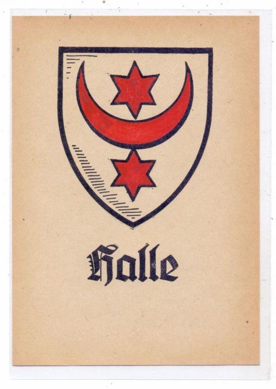 0-4000 HALLE / Saale, Stadtwappen, keine AK-Einteilung
