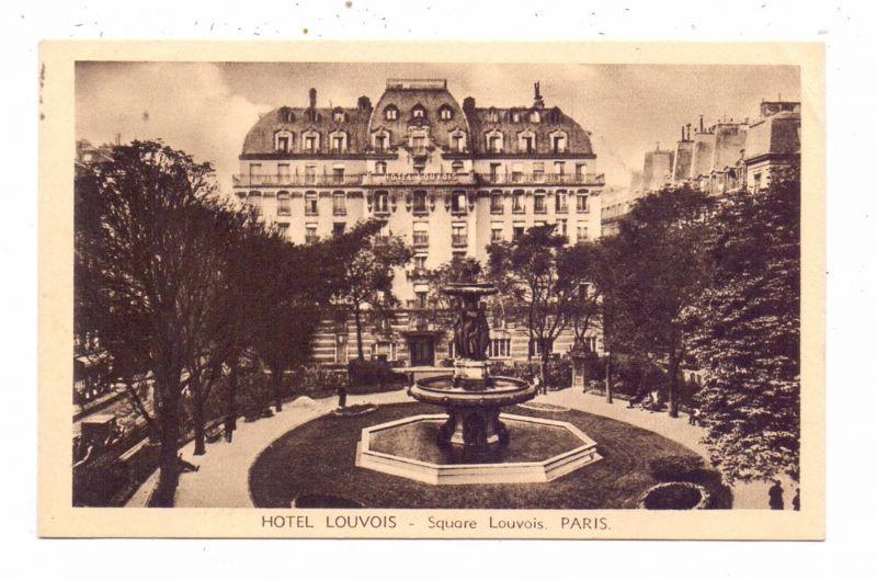 F 75002 PARIS, Hotel Louvois, Square Louvois, 1941