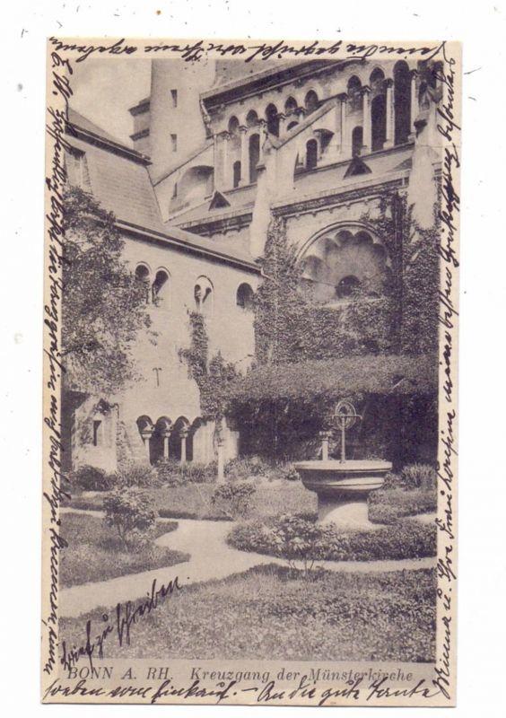 5300 BONN, Kreuzgang der Münsterkirche, 1921