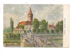 OBER-SCHLESIEN - OPPELN / OPOLE, Piasten-Schloß, Künstler-Karte, 1920, franz. Mandat, kl. Druckstellen