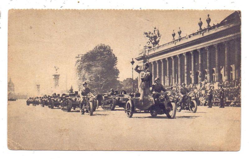 MOTORRAD - Franz. Militärparade, Motorräder und Kleinpanzer