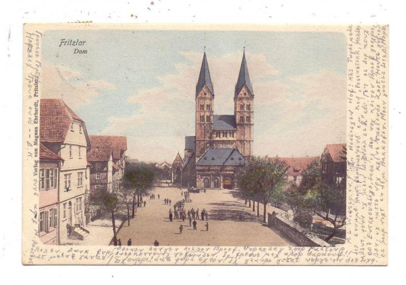 3580 FRITZLAR, Dom mit Vorplatz, 1903 0