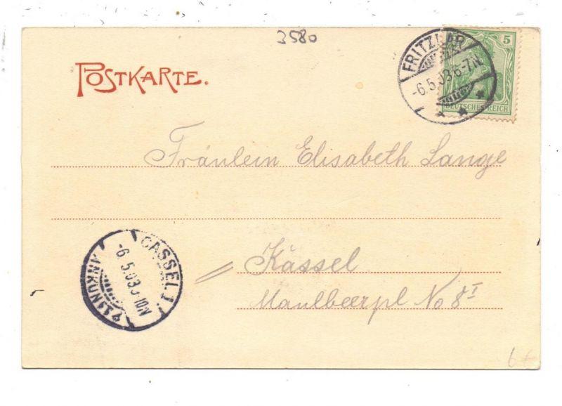 3580 FRITZLAR, Dom mit Vorplatz, 1903 1