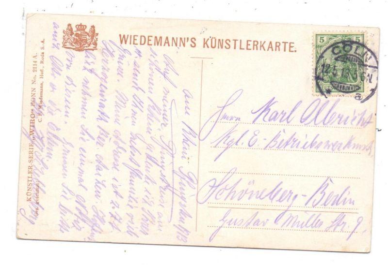 Bonn Karte.5300 Bonn Am Alten Zoll Künstler Karte 1913