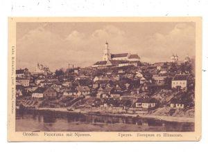 BELARUS / WEISSRUSSLAND - GRODNO / HRODNA, Panorama mit Njemen, 1915