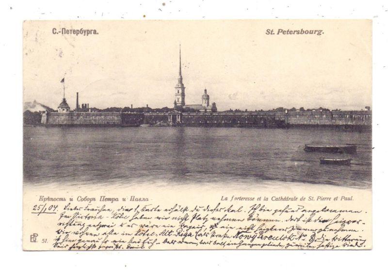 RU 190000 SANKT PETERSBURG, Panorama, 1904