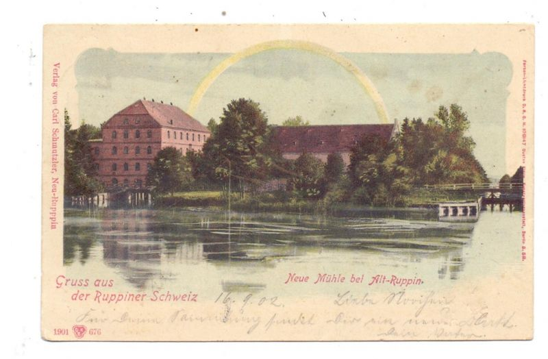 0-1950 NEURUPPIN - ALT RUPPIN, Neue Mühle, 1902