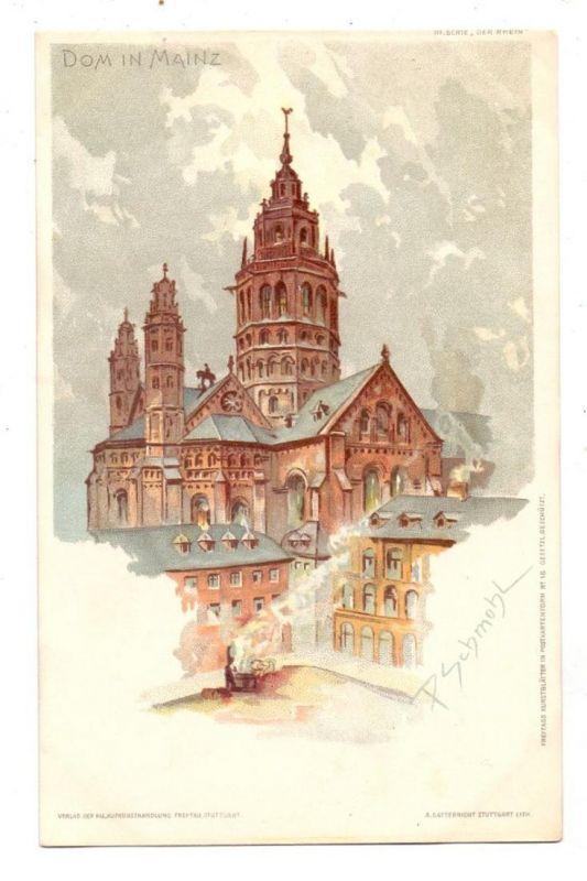 6500 MAINZ, Dom zu Mainz, Künstler-Karte P.Schmohl, ca. 1905