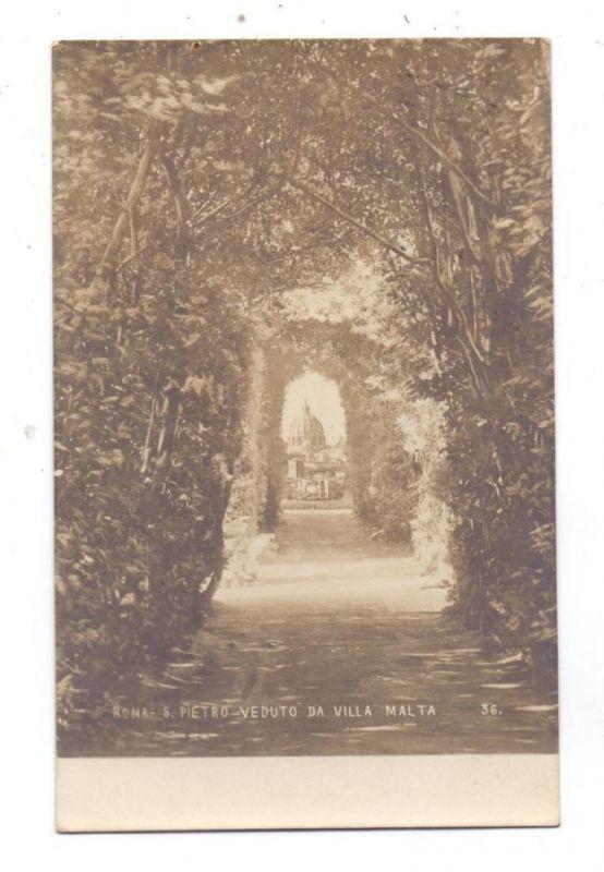 VATICAN - San Pietro veduto da Villa Malta, 1906