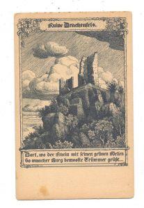 5330 KÖNIGSWINTER, Ruine Drachenfels, Künstler-Karte W. Lenz