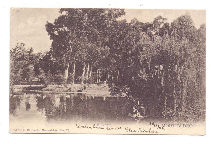 URUGUAY - MONTEVIDEO, El Prado, 1907