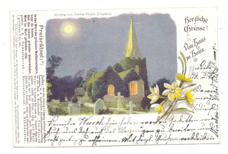 UK - ENGLAND - BUCKINGHAMSHIRE - STOKE-POGES, Church, 1900