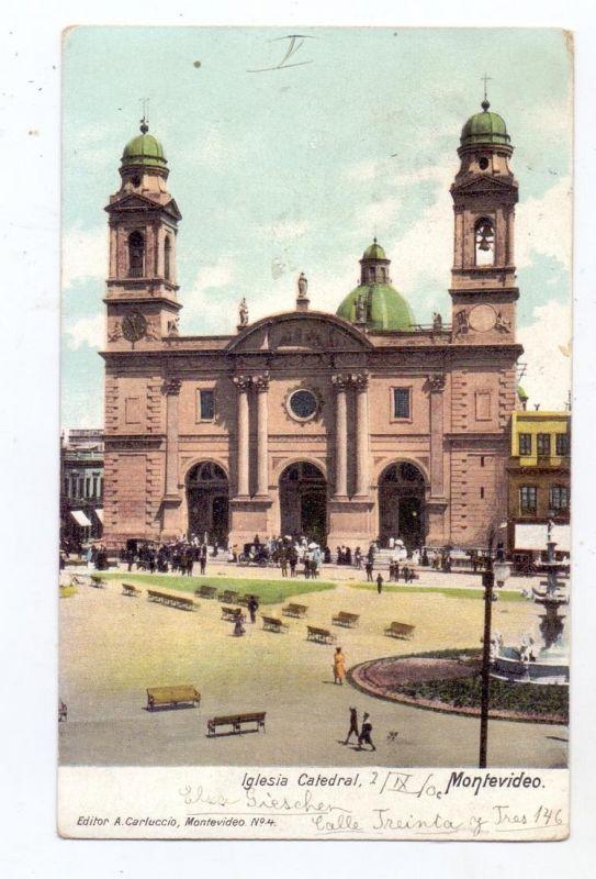 URUGUAY - MONTEVIDEO, Iglesia Catedral, 1906